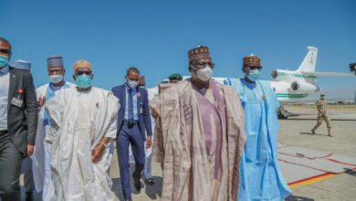 Photo of GOVERNMENT DELEGATION VISITS BORNO, BUHARI VOWS END TO TERRORISM